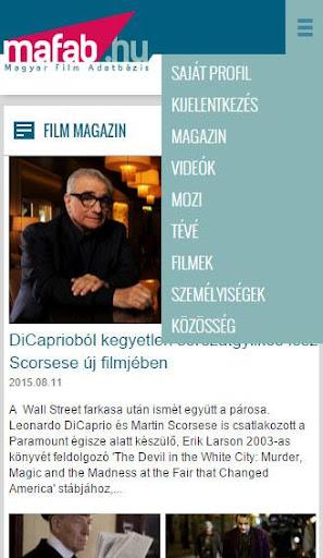 MAFAB - Filmek adatbázisa