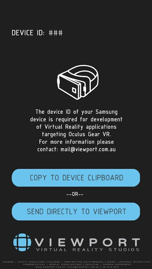 Gear VR Device ID- screenshot