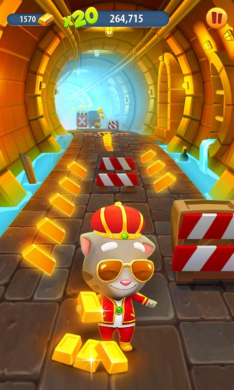 Screenshots of Talking Tom Gold Run for iPhone
