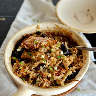 Chicken and Mushroom Clay Pot Rice