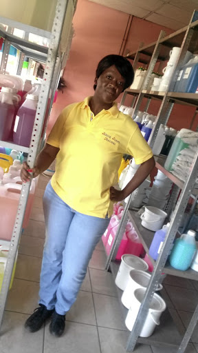 Boitumelo Mabowe, owner of Serene Soaps and Trading, which produces industrial soaps and detergents.