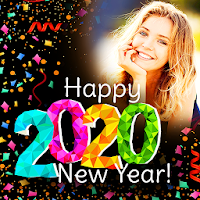 Happy New Year Photo Frame 2020 photo editor