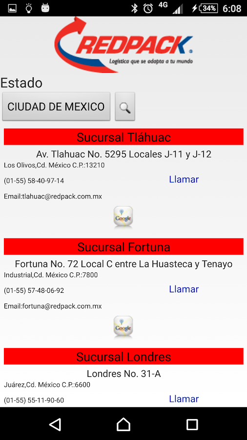 Redpack Movil Android- screenshot