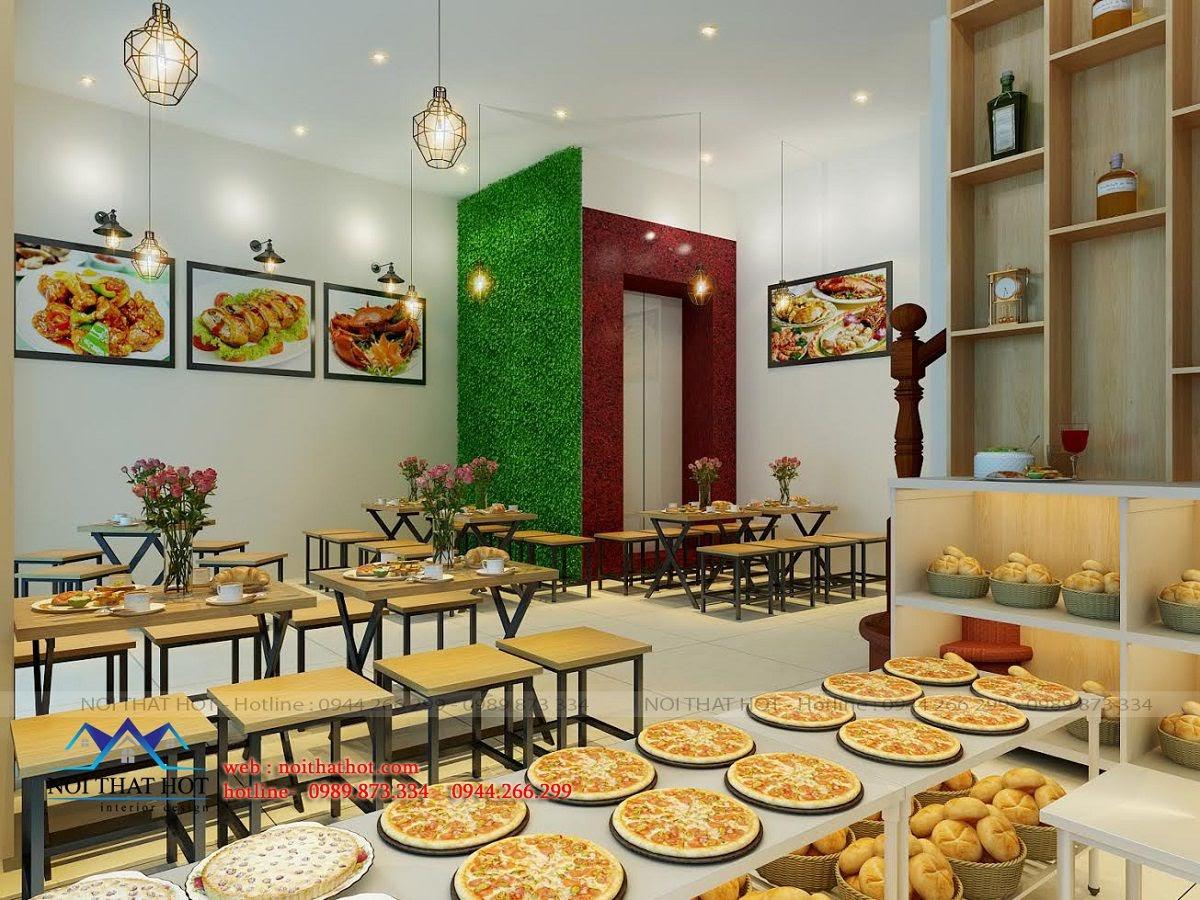 thiết kế quán ăn nhanh phong cách mới