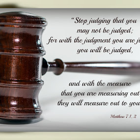 Judge by Robert George - Typography Quotes & Sentences (  )