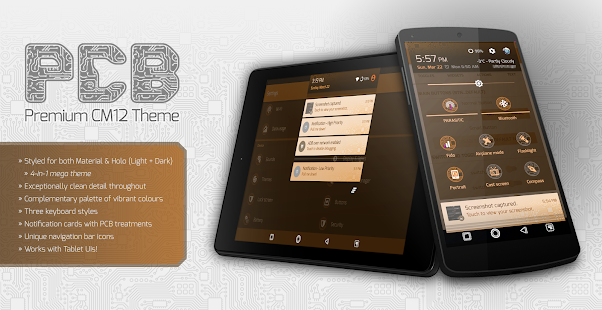PCB Orange ⁞ CM13 Theme- screenshot thumbnail