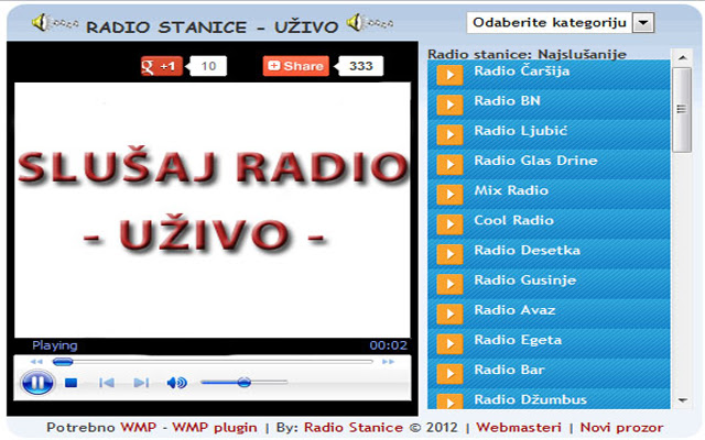 RADIO STANICE UŽIVO