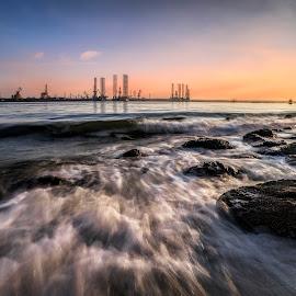 Punggol Waves by Gordon Koh - Landscapes Waterscapes