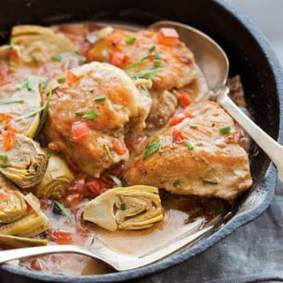 Braised Chicken and Artichokes