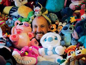 Photo: Larry - Disney Dork - Shipped home an extra bag of toys from his Disney World honeymoon