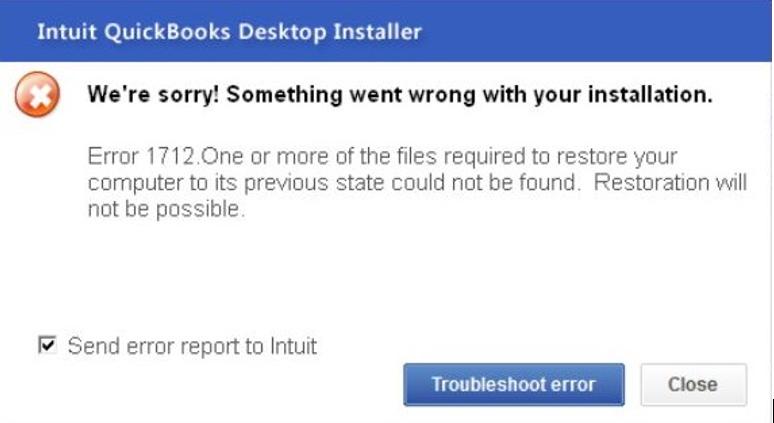 QuickBooks Error 1712