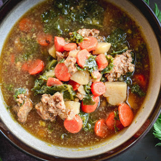 Sausage, Kale And Carrot Soup.