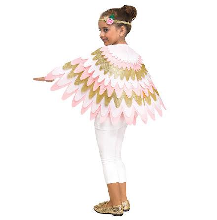 Barndräkt, ängel cape och pannband