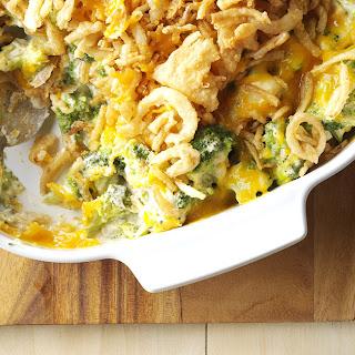 Cheesy Cheddar Broccoli Casserole.