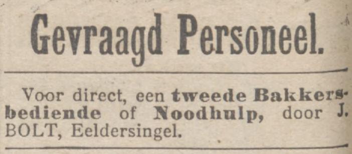 personeelsadvertentie 1906