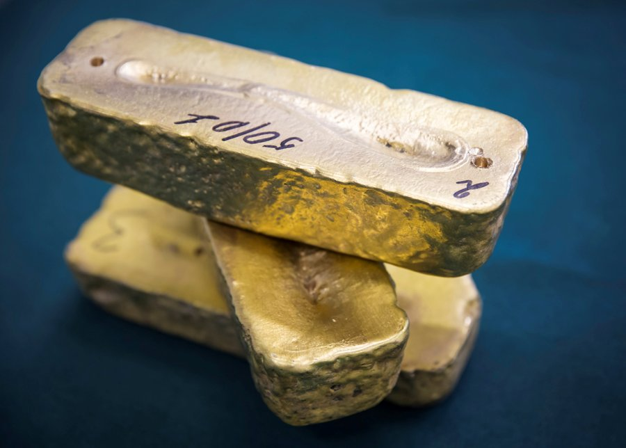 As investors' appetite for risk increases, gold slips