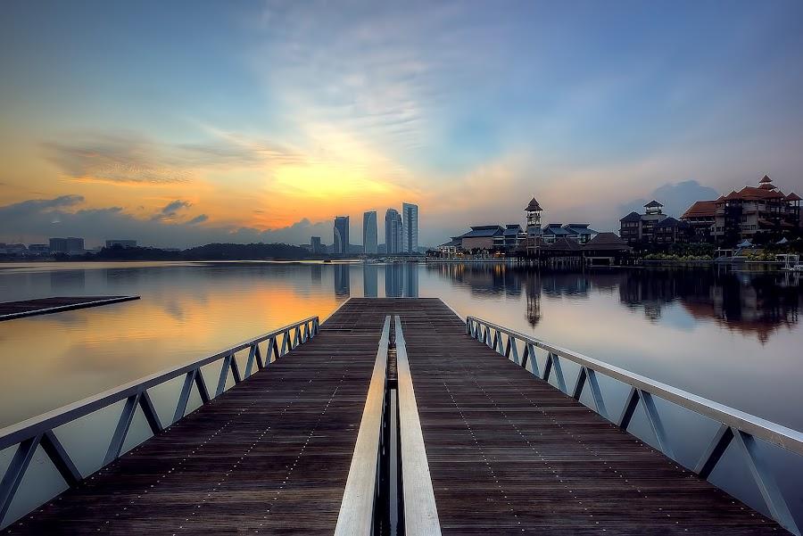 The Sunrise At The Lakeside by Mohd Tarmudi - Landscapes Sunsets & Sunrises ( putrajaya )