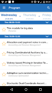 OR2015 Vienna Conference App- screenshot thumbnail
