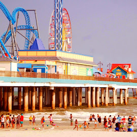 Pleasure Pier by Brenda Shoemake - City,  Street & Park  Amusement Parks