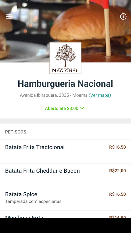 Hamburgueria Nacional- screenshot