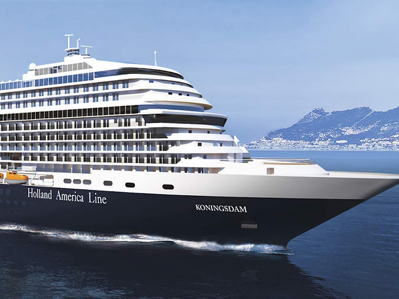 Holland America Line's Koningsdam carries 2,650 passengers on itineraries in the Mediterranean and Caribbean.