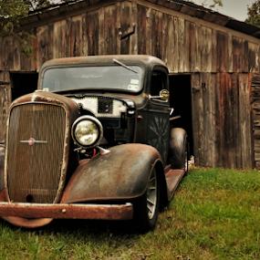UT-1936D by Benito Flores Jr - Transportation Automobiles ( truck, texas, 1936 )