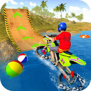 Water Surfer Motorbike Stunts
