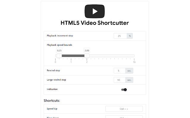 HTML5 Video Shortcutter