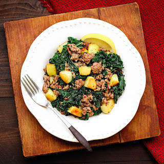 Greens with Potatoes & Sausage