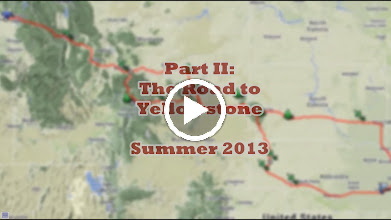 Video: VIDEO: Part II Slideshow of our road back from Nebraska, by way of Yellowstone National Park. Also includes Chimney Rock, Devils Tower, Bighorn Mountains, and the Cody Rodeo.  (13:35 minutes)