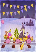 "Photo: ""Season's Tweetings"" — 4.5""x6.5"" Winter Holiday Greeting Card © Kim Buchheit"