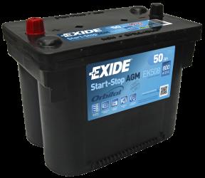 Exide AGMbatteri Startstop 12V/50Ah