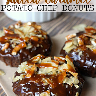 Salted Caramel Potato Chip Donuts