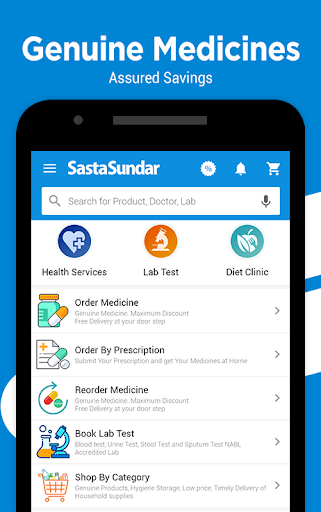 SastaSundar - Genuine Medicine Lab Test Doctor App Apk 1