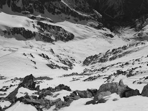Photo: Looking down to couloir