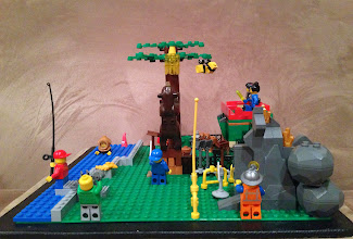 Photo: mine that gold mister miner! I hope the bees leave mr. bear alone :\