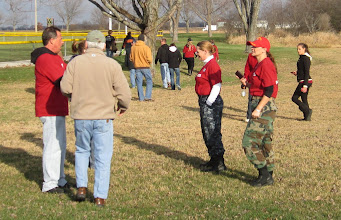 Photo: part of todays Run 4 Vets team discuss todays start