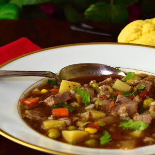 Beef Barley Vegetable Soup.