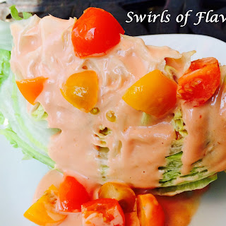 Iceberg Lettuce Wedge With Creamy Dressing.