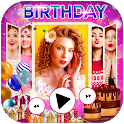 Birthday Photo Video Maker with Song and Name icon