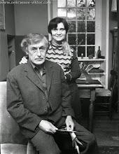 Photo: Виктор и Галина Некрасовы, Марлотт, 1975. Фотография Ж.-П. Кудерк