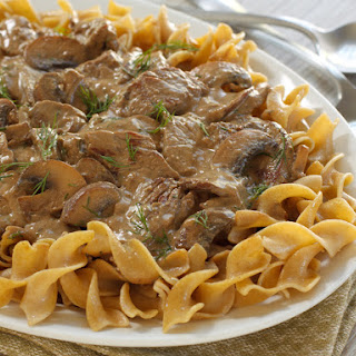 Beef Stroganoff with Greek Yogurt Sauce