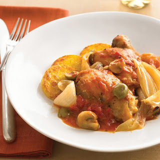 Chicken Cacciatore with Crisp Polenta