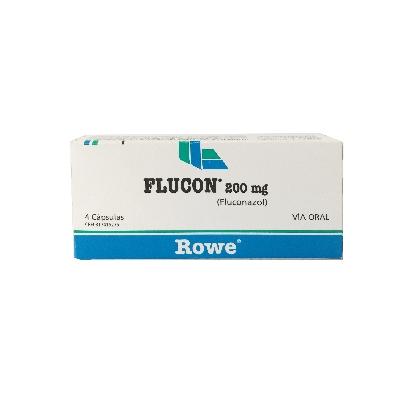 Fluconazol Flucon 200 mg x 4 Capsulas