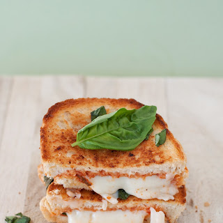 """""""The Margherita"""" Pizza Grilled Cheese."""