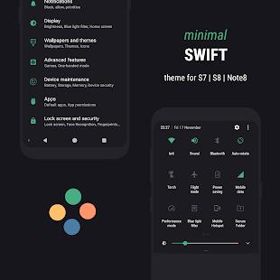Swift Minimal Substratum Theme for Samsung - náhled