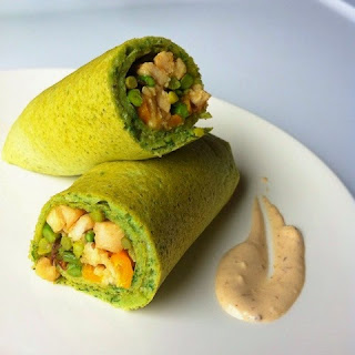 Egg Spinach Wrap.