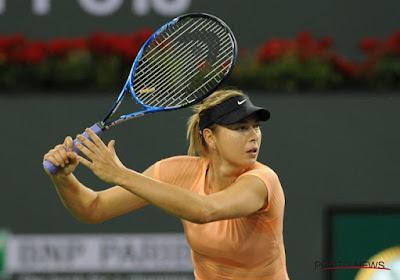 ? Sharapova komt set voor, maar verliest toch