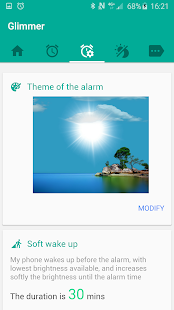 Glimmer (luminous alarm clock)- screenshot thumbnail