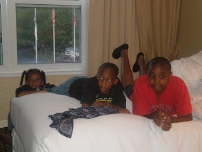 Photo: lounging in the hotel room in Atlanta